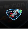 space rocket ship logo vector image