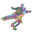 Figure skating colroful vector image vector image