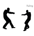 man in Pulling Action pose vector image