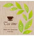 Template of a tea menu vector image vector image