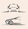 sport car sketch vector image vector image