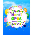 Mardi Gras background with flags vector image vector image