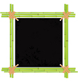 bamboo asian frame vector image vector image