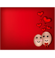 A happy couple in love vector image