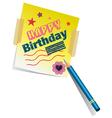 Birthday Memo vector image