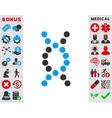 Dna Spiral Icon vector image