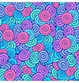 Doodle seamless pattern with colorful spiral vector image