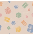 Seamless Gift box pattern vintage vector image