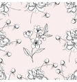 Seamless pattern with peony11-08 vector image
