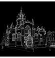 Sketch of St Giles Cathedral vector image