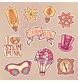 Steampunk patches set vector image
