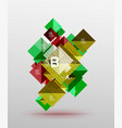colorful triangles and squares vector image vector image