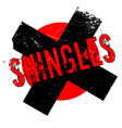 shingles rubber stamp vector image