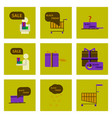 flat assembly icons of black friday set vector image