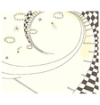 stars swirls doodle background vector image vector image