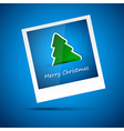Blue picture of merry christmas vector image vector image