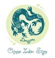 Dragon Chinese Zodiac Sign vector image