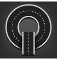 Q letter Road font vector image