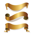 golden ribbons vector image vector image