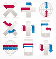 ribbons stickers and banners set vector image vector image