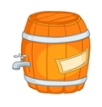 Cartoon home kitchen barrel vector image