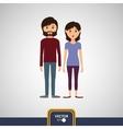 Couple icon design vector image