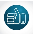 thump up and like icon vector image vector image