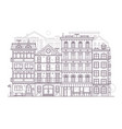 europe city street background in line art vector image
