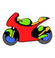 motorcycle icon icon cartoon vector image