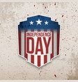 retro realistic greeting card for independence day vector image