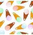 seamless pattern of ice creamcartoon style vector image