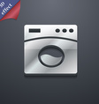 Washing machine icon symbol 3D style Trendy modern vector image