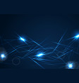 blue neon glowing laser beams stripes background vector image