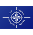 NATO flag vector image vector image