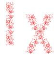 hand drawing ornamental alphabet letter ix vector image