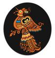 russian culture phoenix vector image vector image