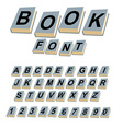 Font book Alphabet on covers of books ABCs of log vector image