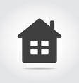 House Black Icon vector image