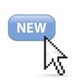 New Button Click vector image