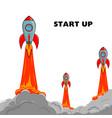 start up rocket ship vector image