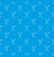 walking cane pattern seamless blue vector image