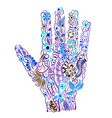 Floral palm hand drawn vector image