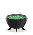 cauldron of boiling green liquid vector image