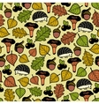 Endless pattern with autumn forest and cute vector image