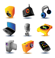 Icons of media devices vector image vector image