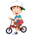 Boy on bicycle vector image vector image