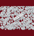 collection of the isometric numbers and new year vector image