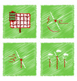 collection of flat shading style icons ecological vector image vector image