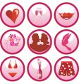 love icon buttons vector image vector image