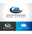 Real Estate House Logo Icon vector image vector image